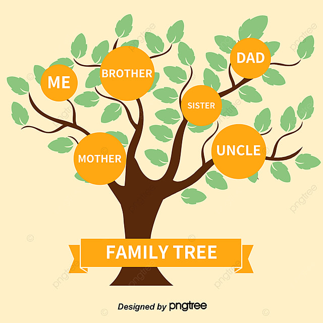 vector family tree decorated with pink flowers family vector tree