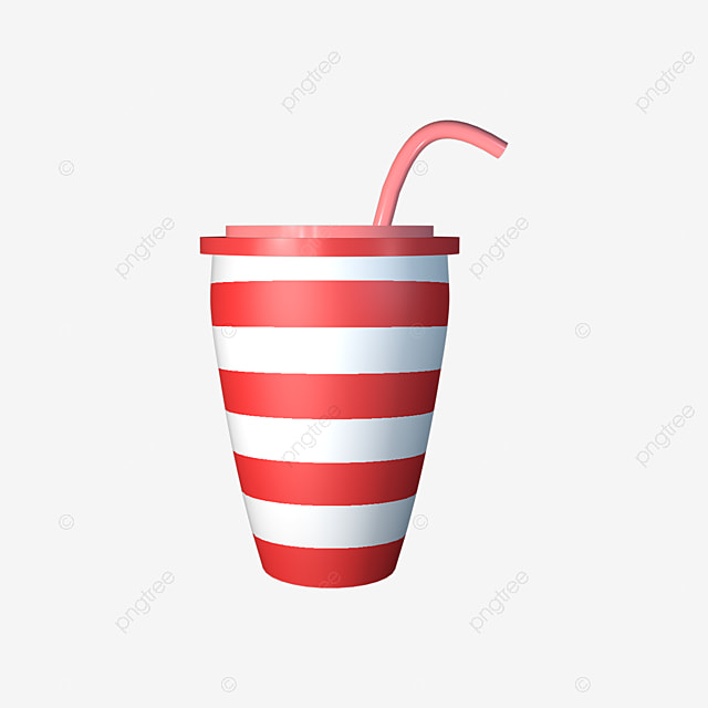 Disposable Striped Plastic Cups In Kind E Cup Straw Png Image And Clipart