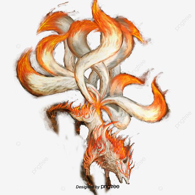 ベクトル九尾狐 九尾の狐 赤い 妖怪の無料ダウンロードのためのpngとベクトル