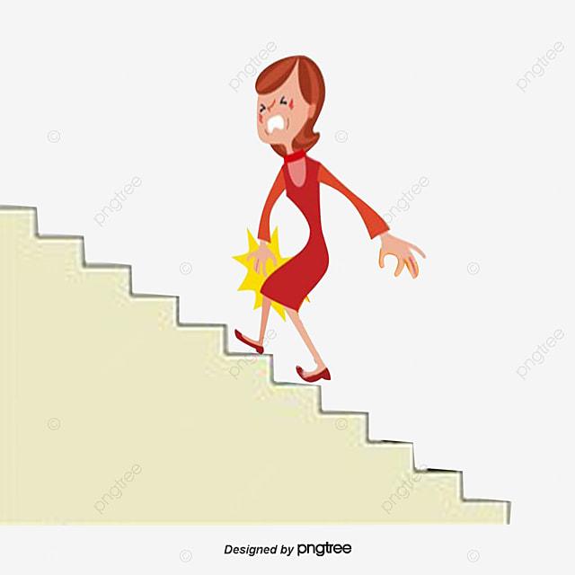 膝関節痛挿画イラスト 関節炎 階段を上がる 苦痛画像とpsd素材ファイルの