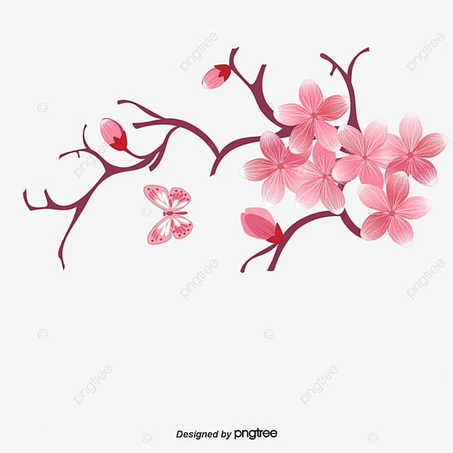 cartoon pink cherry blossoms cartoon pink cherry blossoms png and rh pngtree com cherry blossom tree cartoon cherry blossom cartoon pic