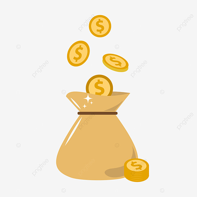 Cartoon Pocket Clipart Money Bag Gold Png Image And