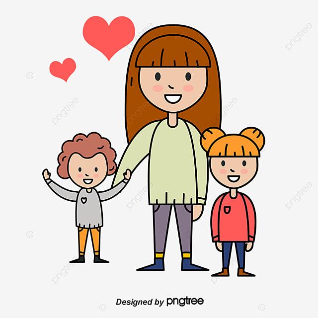 La Familia De Dibujos Animados Niño Madre Cartoon PNG Y
