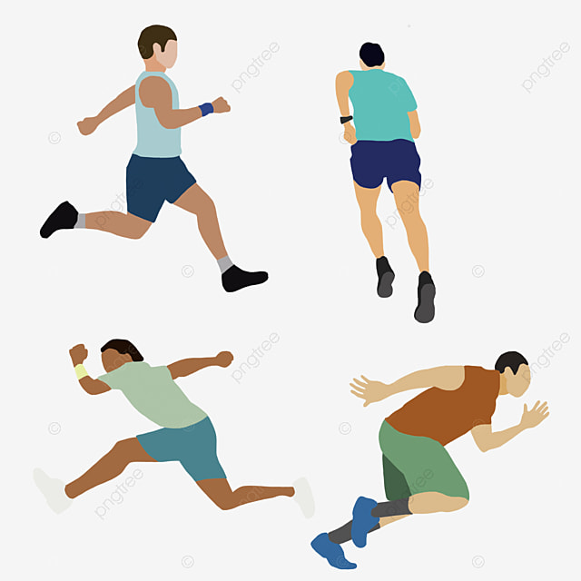 a group of people running people clipart run silhouette png image rh pngtree com Pregnant Woman Running Pregnant Woman Running