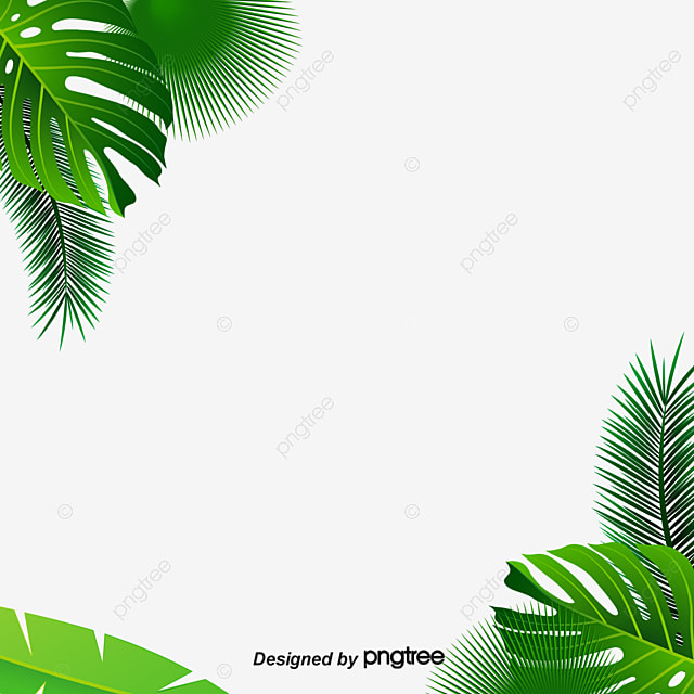 Leaf Background Decoration Material Green Leaves Banana PNG Image And Clipart
