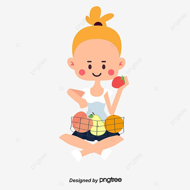 Salud Infantil De Dibujos Animados, Comer Niños, Dieta Sana, Frutas ...