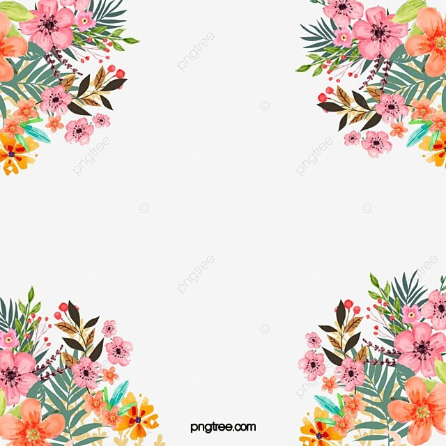 Floral Border PNG Images | Vector and PSD Files | Free