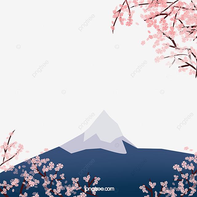 sakura fuji rose sakura le mont fuji image png pour le t l chargement libre. Black Bedroom Furniture Sets. Home Design Ideas