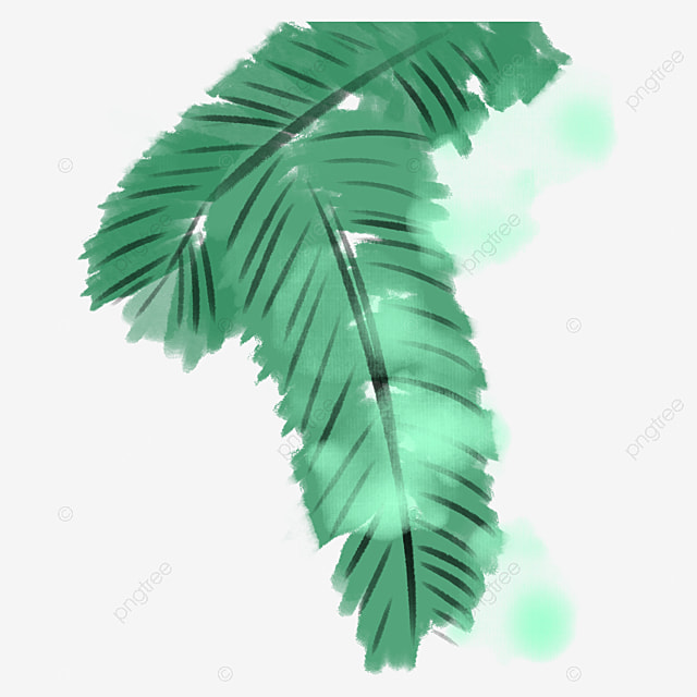 Banana Leaf Wallpaper In Kind Green Frame PNG Image And Clipart