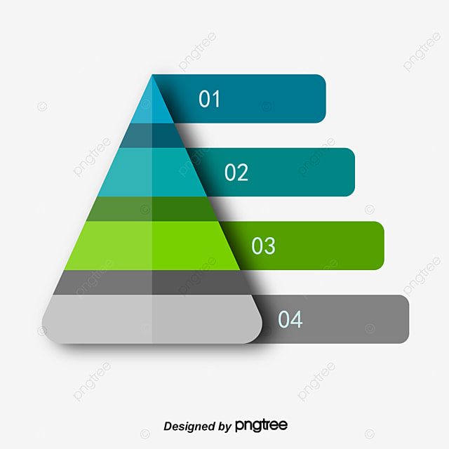 無料ダウンロードのためのピラミッドのppt元素図 ピラミッド 4層