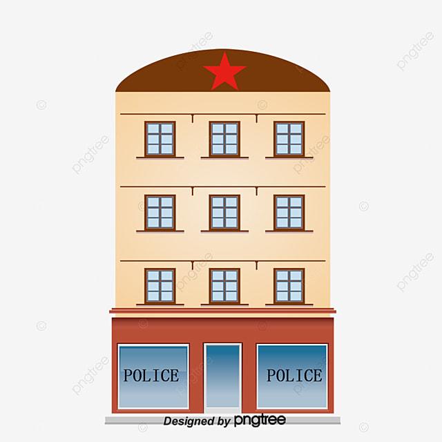 Cartoon Police Station Vector Station Police Station