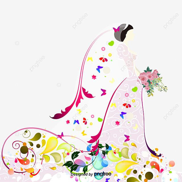 Pink Dream Wedding Vector Wedding Clipart Woman Wedding