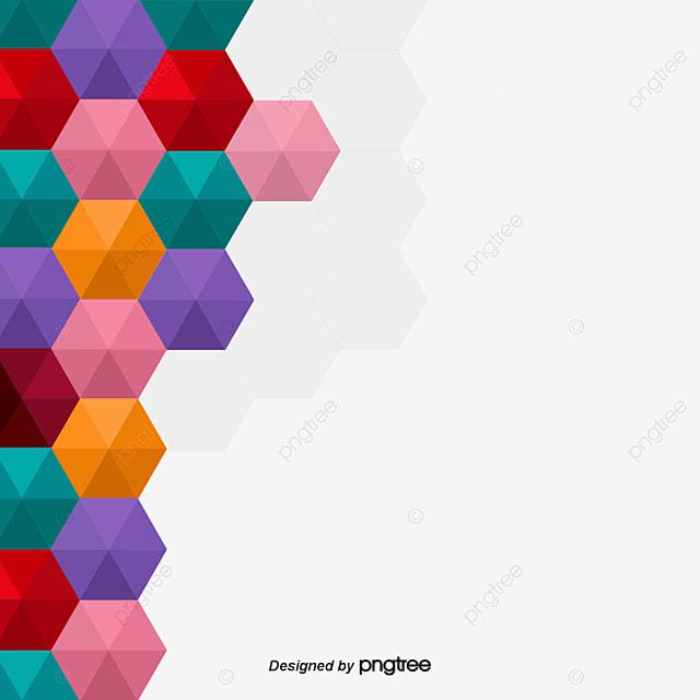 Hexagonal Background Border, Vector Hexagon, Background Decoration ...