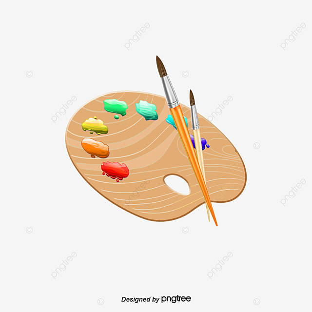 Cartoon palette palette brush painting png and psd file - Palette a dessin ...