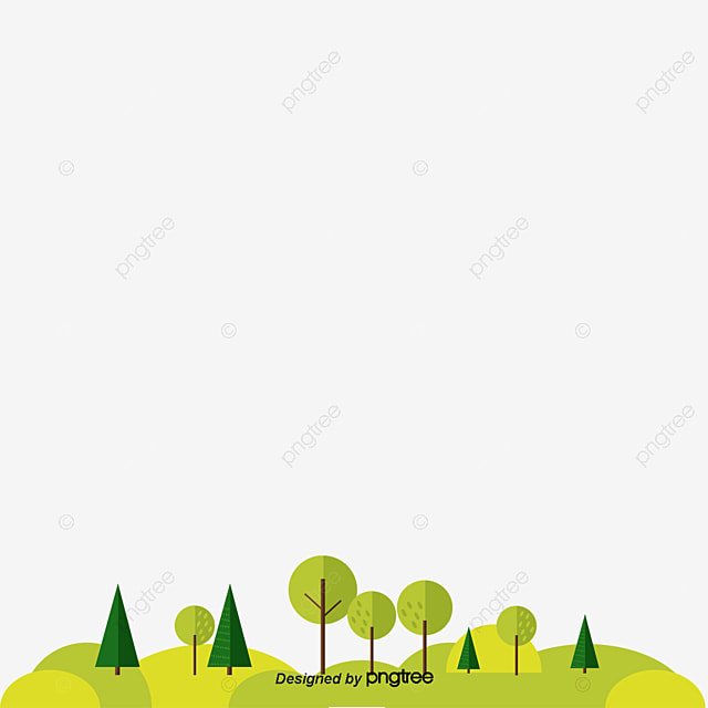 Garden Vector, Trees, Lawn, Green PNG And Vector
