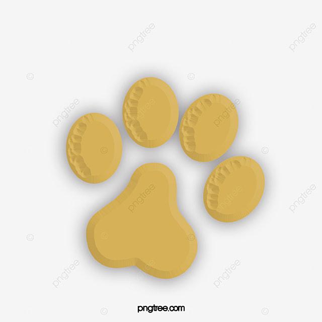 Simple Perro Amarillo Pies Huellas Perro Garras Huella Perro Huellas