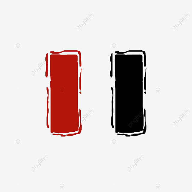 Red Blue Black Stamp Template Material, Stamp Clipart, Triangle ...