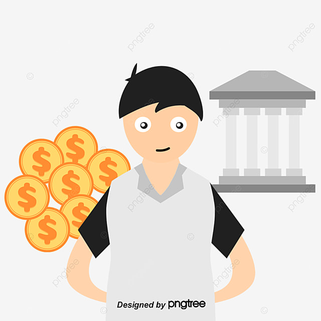 Bank Entrepreneur, Vector Material, Bank, Banker PNG and ...