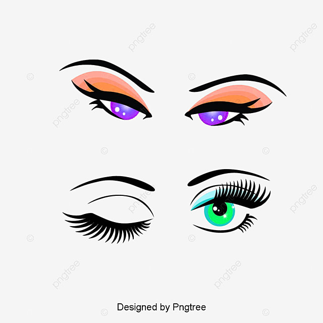 Hand-painted Eyes, Eyes Clipart, Make Up, Makeups PNG ...