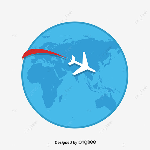 plane travel around the globe vector material white plane earth rh pngtree com free earth globe vector globe vectoriel free