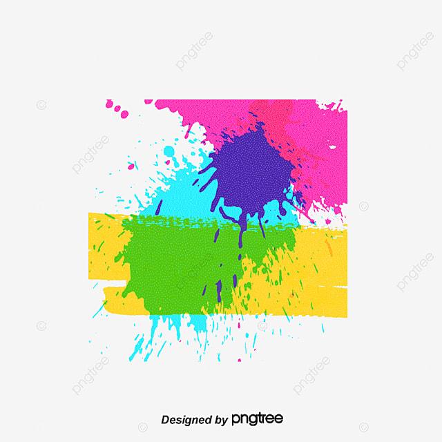 Multi-color Sprayed Graffiti Vector, Graffiti, Splash