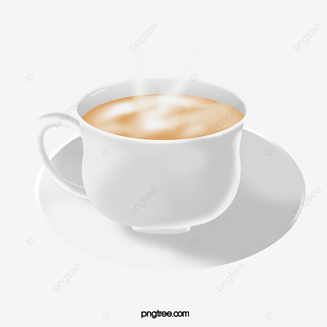 Coffee Cup Hot Milk Tea Clipart White Png