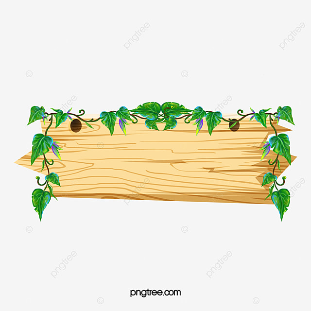 Solid Wood Border Cartoon Vines PNG Image And Clipart