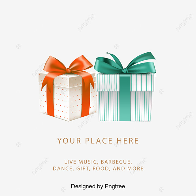 Abstract Gift Birthday Card Clipart Vector Material PNG And PSD