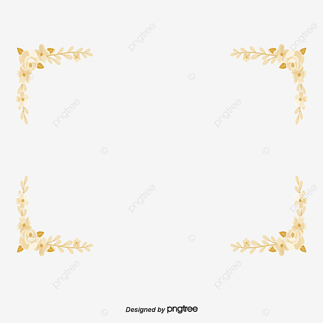Golden Floral Deformation Creative Border Vector, Golden
