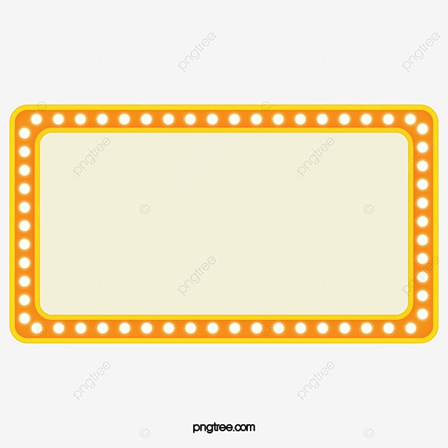 Yellow bulb border material light bulb flash border for Luces camerino