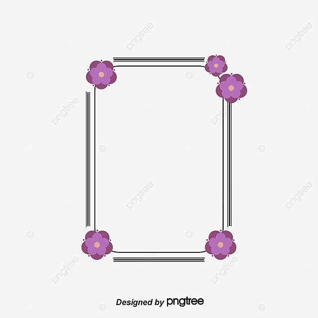 le cadre photo les fleurs violet cadre photo fichier png