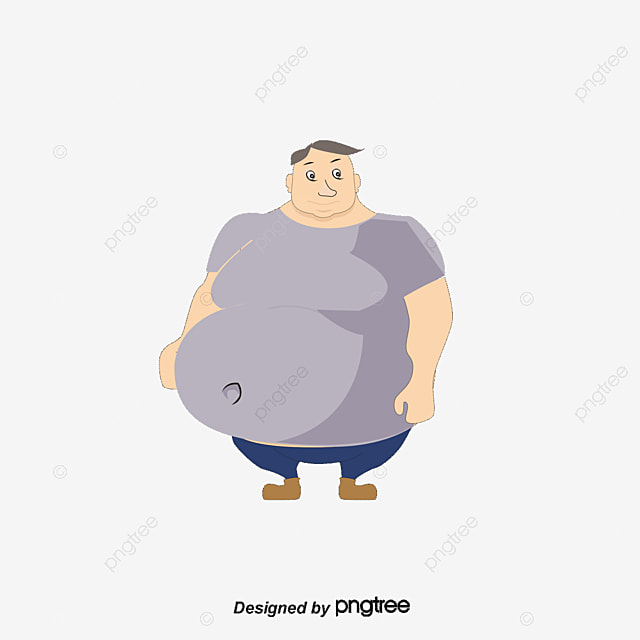 cute fat man lovely fat man cartoon png and vector for free download rh pngtree com
