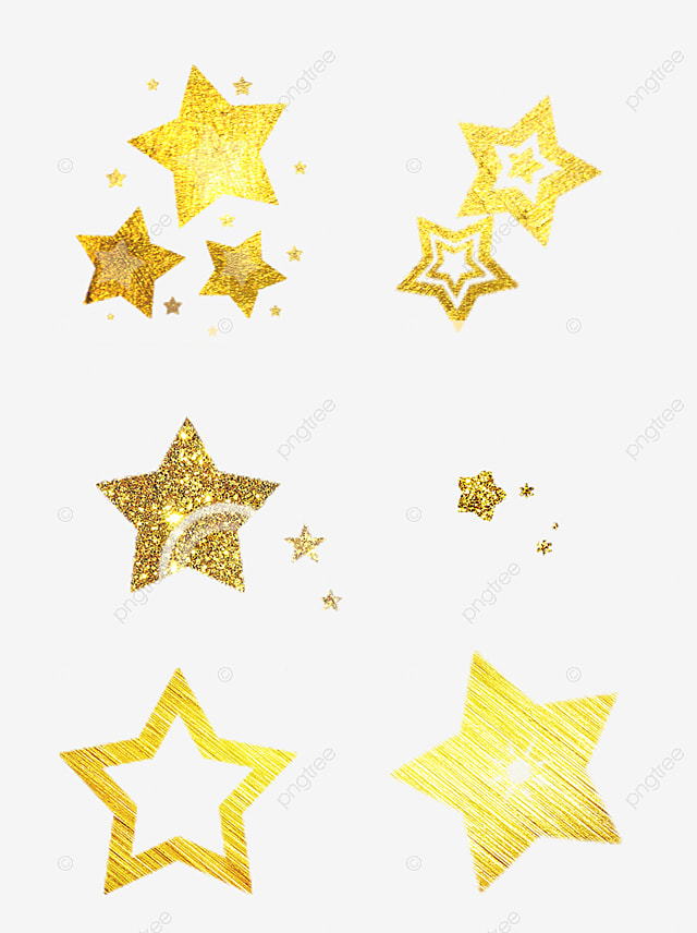 Golden star background five pointed gold