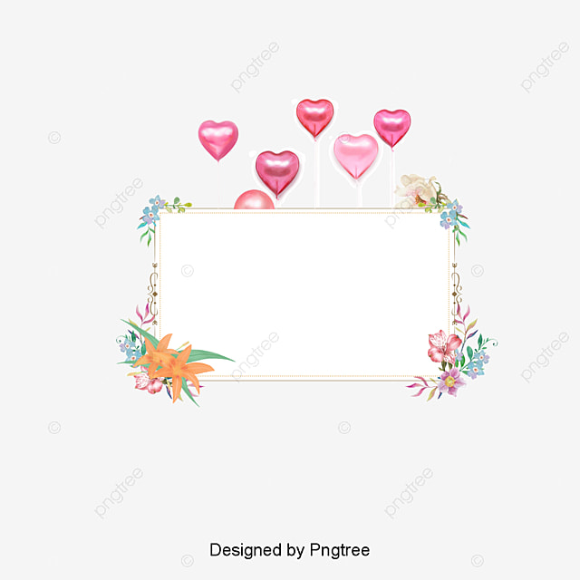 Small Fresh Frame Material Flower Box Simple PNG