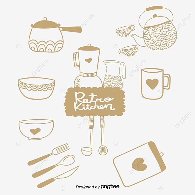 Vr Hijau Peralatan Dapur Set Profil Pen Pera Png Dan