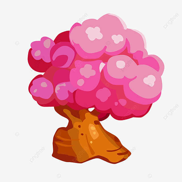Cartoon Bodhi Tree Picture Material Clipart PNG Image And