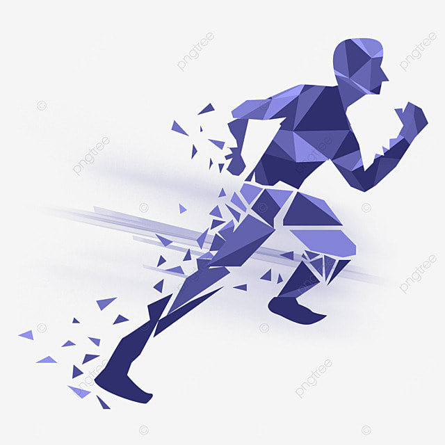 Vector Rushed To Run The Characters Vector Diagram Male Runner