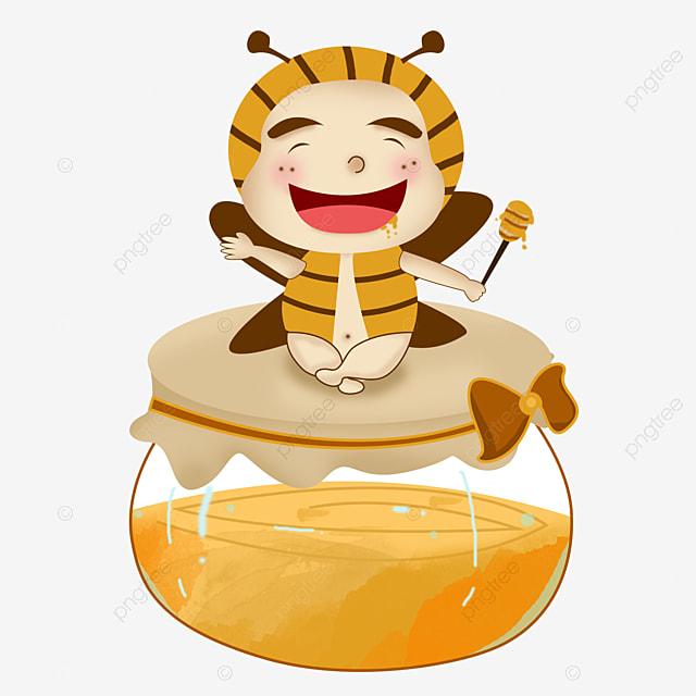 Honig Bienen HD Material Kuchen Nicht Angeschnallt, Die Kleine Biene ...
