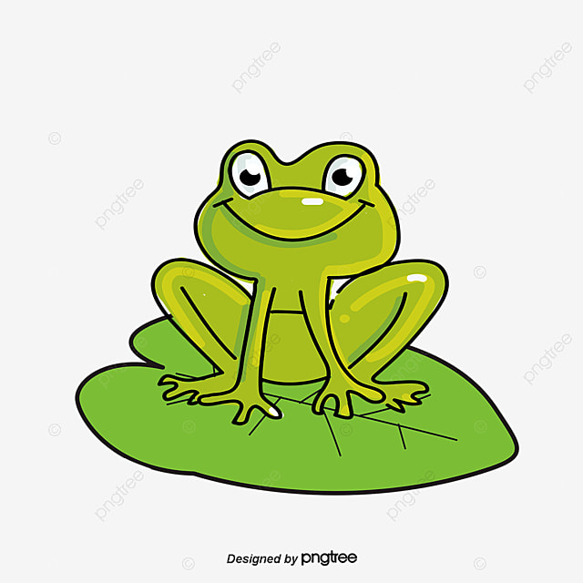 the frog on the lotus leaf green frog animal png and vector for rh pngtree com