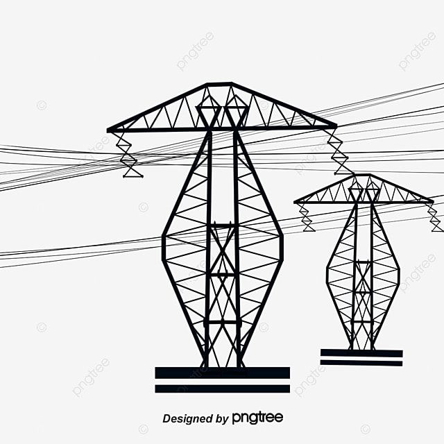 Vector Cable High Voltage Line Tower Vector Cable High Voltage