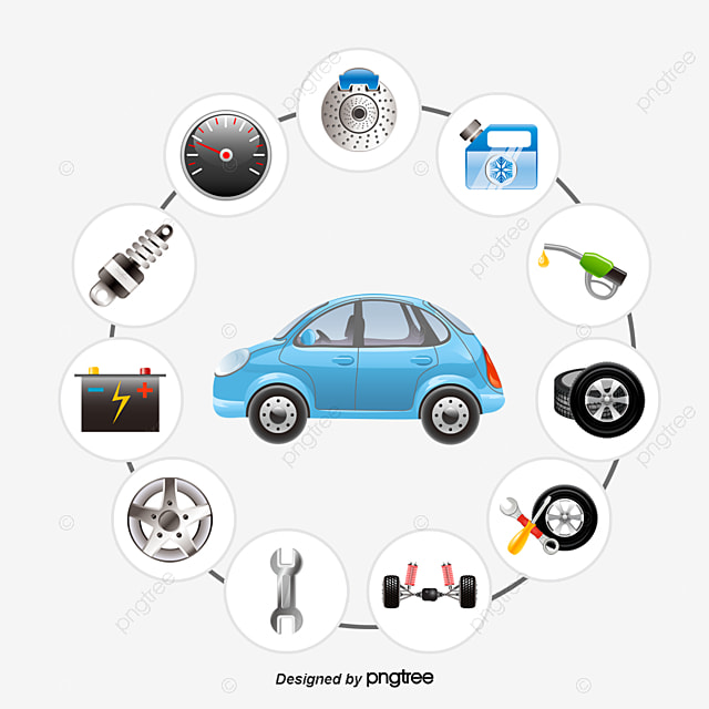Vector Cars And Auto Parts, Vector Diagram, Car, Car Parts PNG and ...