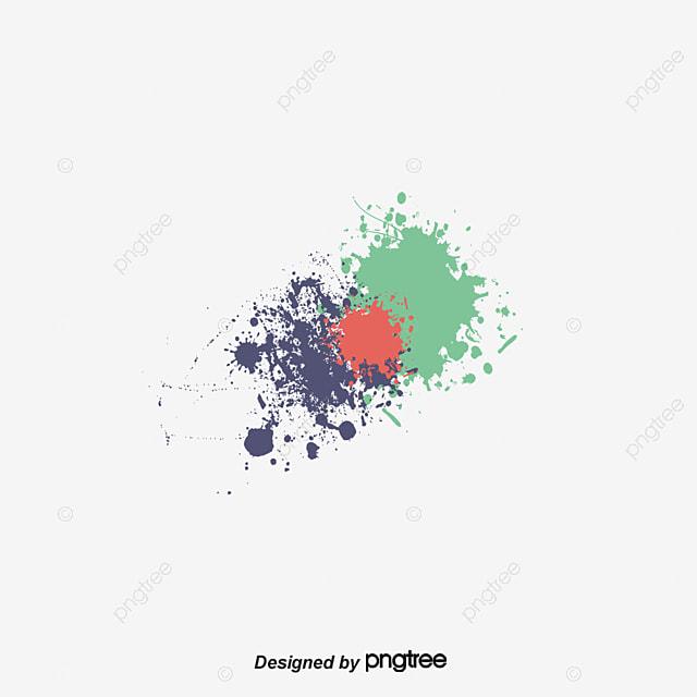 Farbe Bemalt MIT Flecken, Vector, Farbe, Farbe PNG und Vektor zum ...