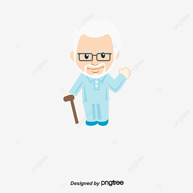 Cartoon Characters Old Man : Cartoon old man grandpa glasses white beard png and