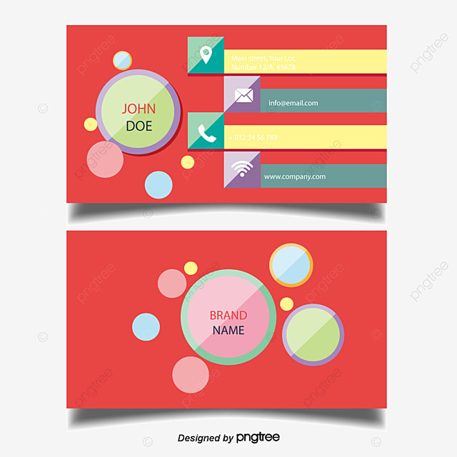 Fashion Diamond Decoration Business Card Positive And Negative Vector Material