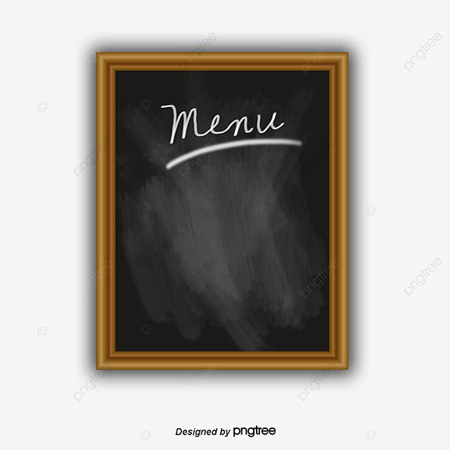 Blank Blackboard Menu Design Vector Material PNG