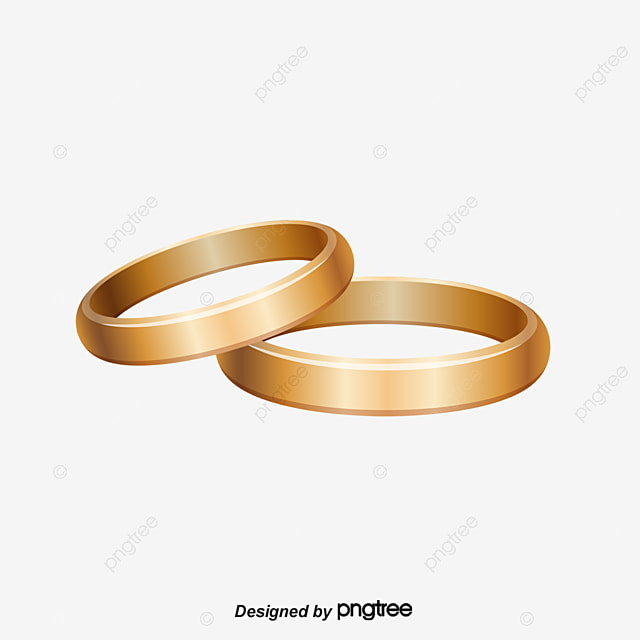 Golden Wedding Ring Vector Golden Wedding Ring Wedding Ring Vector