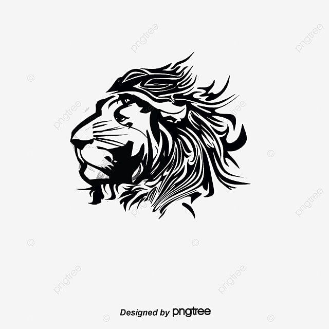 vector lion avatar animal hand painted lion png and