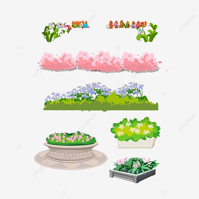 jardin de fleurs gratuit png et psd - Jardin Dessin