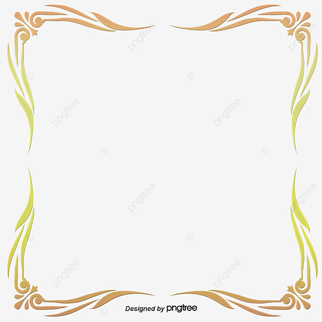 golden square borders fashion gold frame png and vector