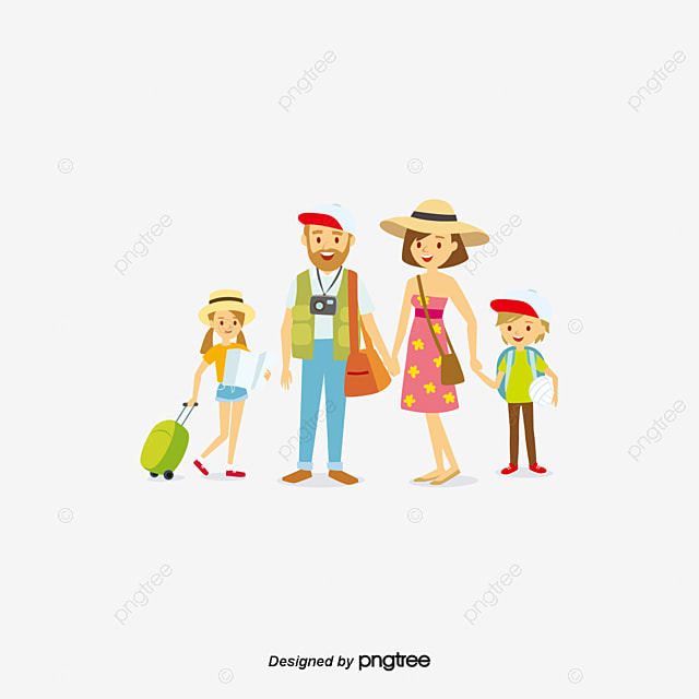 Travel Family Tourism Family Cartoon Png And Vector For